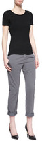 J Brand Jeans Inez Low-Rise Cropped Chinos, Vintage Black
