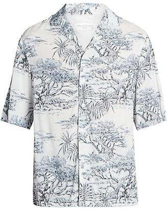 Officine Generale Eren Floral Short-Sleeve Shirt