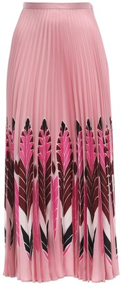 Valentino Printed Silk Twill Skirt