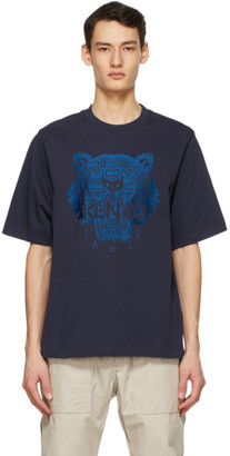 Kenzo Navy Oversized Embroidered Tiger T-Shirt