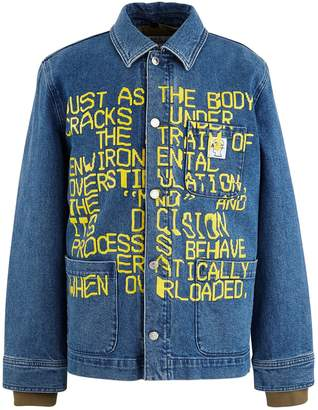 A.P.C. Denim jacket x Brain Dead