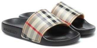 BURBERRY KIDS Vintage Check slides