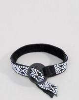 Icon Brand Aztec Woven Bracelet In Black