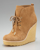 Denise Lace-Up Wedge Bootie