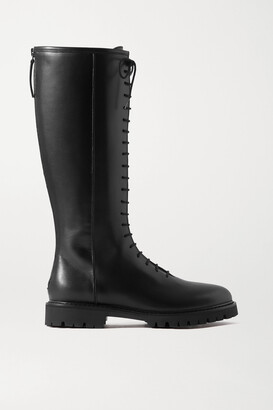 LEGRES 11 Lace-up Leather Knee Boots
