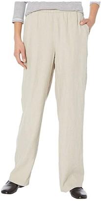 Eileen Fisher Full-Length Wide Leg Pants (Unnatural) Women's Casual Pants