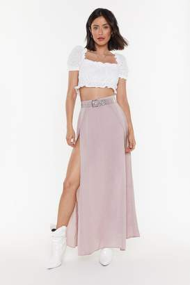 Nasty Gal Womens Wrap Split Maxi Skirt - purple - 14