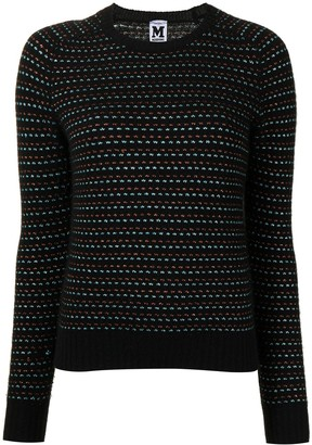 Missoni Pre-Owned Metallic Threading Striped Jumper