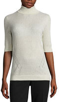 Liz Claiborne Elbow Sleeve Turtleneck Pullover Sweater-Talls