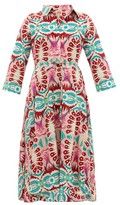 Le Sirenuse, Positano Lucy Fishtail print Cotton Dress Womens Pink Print