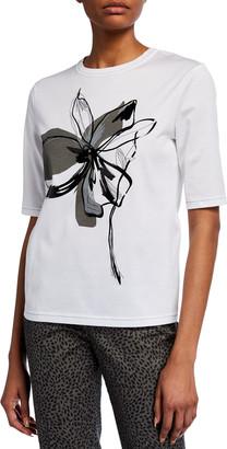 Piazza Sempione Stencil Print T-Shirt