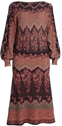 Etro Sorraia Wool & Cashmere Knit Midi Dress