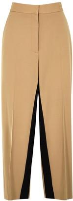 Stella McCartney Tracy Camel Wide-leg Twill Trousers