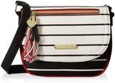 Betsey Johnson Loop Tassel Saddle Crossbody Bag