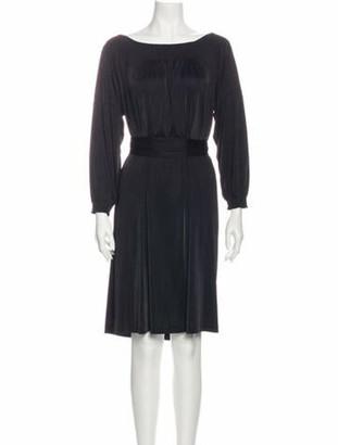 Prada Bateau Neckline Knee-Length Dress Black