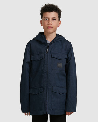DC Youth Mastaford Water Resistant Hooded Field Jacket