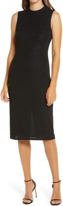 Anne Klein High Neck Sheath Dress