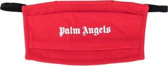 Palm Angels Logo Print Face Mask