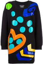 Moschino printed sweatshirt dress - women - Cotton - 42