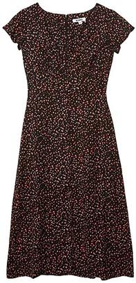 BB Dakota Heavy Petals Party Confetti Printed CDC Midi Dress (Black) Women's Clothing