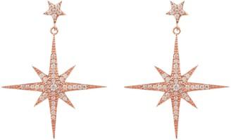 Rosegold Large Star Burst Drop Earring