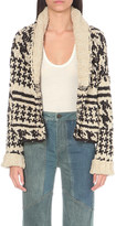 Free People Houndstooth knitted cardigan