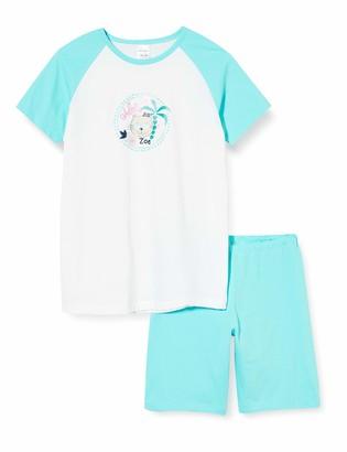 Schiesser Girl's Cat Zoe Md Schlafanzug Kurz Pyjama Set