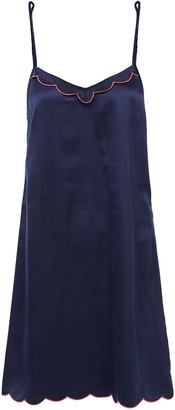 Ginia Embroidered Satin Chemise