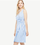 Ann Taylor Striped Poplin Flare Dress