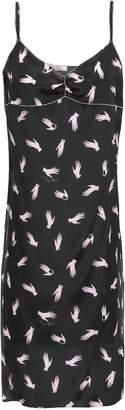 Nina Ricci Ruched Printed Crepe De Chine Slip Dress