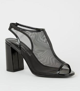 New Look Mesh Slingback Peep Toe Heels