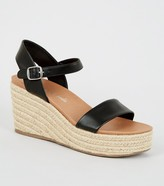 New Look Leather-Look Espadrille Wedges