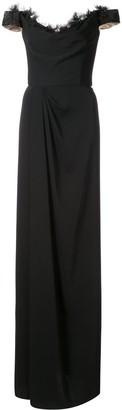 Marchesa Off-Shoulder Maxi Dress