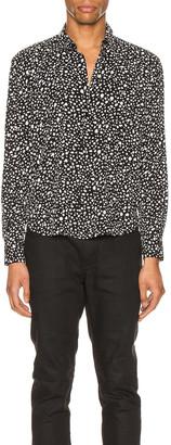 Saint Laurent Long Sleeve Shirt in Black Chalk   FWRD