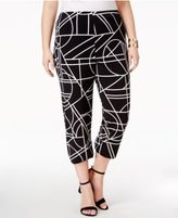 Alfani Plus Size Straight-Leg Cropped Pants, Created for Macy's