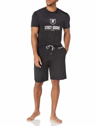 Stacy Adams Men's Big & Tall T-Shirt Jam Short Set