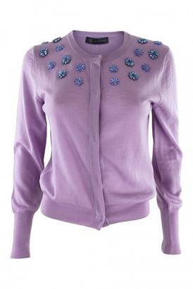 Versace Purple Wool Knitwear for Women