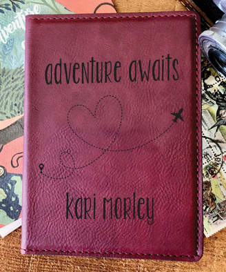 Stamp Out Online Passport Holders rose - Rose 'Adventure Awaits' Personalized Passport Cover