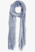 7 For All Mankind Spray Dot Scarf In Navy