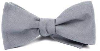 The Tie BarThe Tie Bar Light Grey Solid Wool Bow Tie