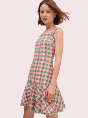 Kate Spade Plaid Tweed Sleeveless Dress