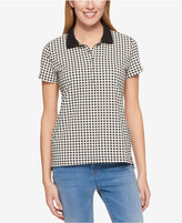 Tommy Hilfiger Short-Sleeve Gingham-Print Polo, Only at Macy's