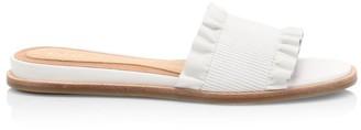 Joie Eidel Ruffled Leather Slide Sandals