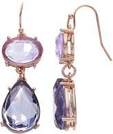 JLO by Jennifer Lopez Purple Oval & Teardrop Earrings