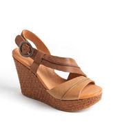 Naya Estra Leather Platform Wedge Sandals