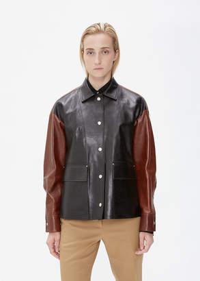 Jil Sander Two-Tone Leather Jacket