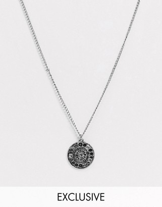 Reclaimed Vintage inspired necklace with lunar phases