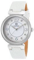 Cabochon 16561-02-WHS Women's Saga White Genuine Leather and Mother of Pearl
