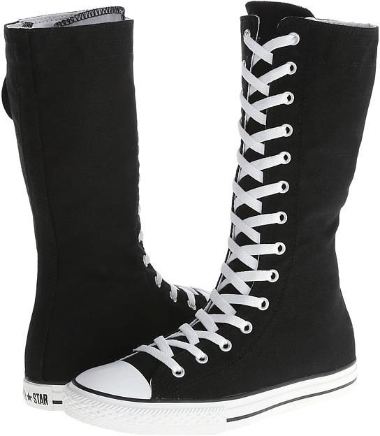 Converse Chuck Taylor All-Star XHi Tall (Little Kid/Big Kid) (Black) - Footwear