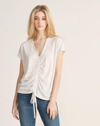 1 STATE 1.State Marled Ruched Drawstring Tee